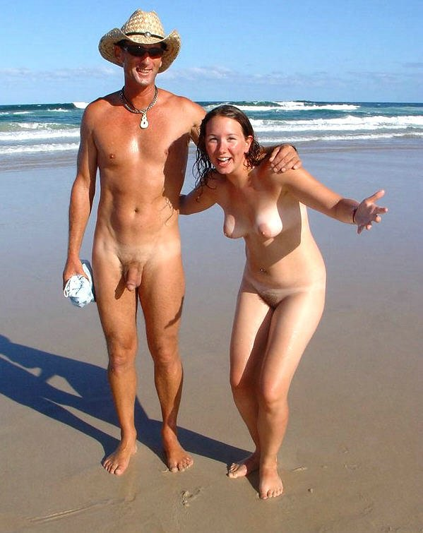 Nude men and women on the beach