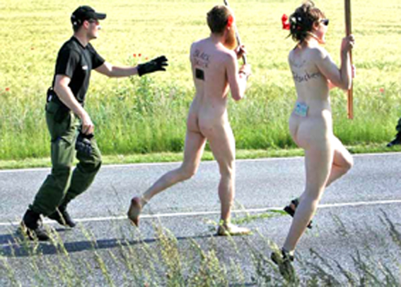 police vs. nudists 1