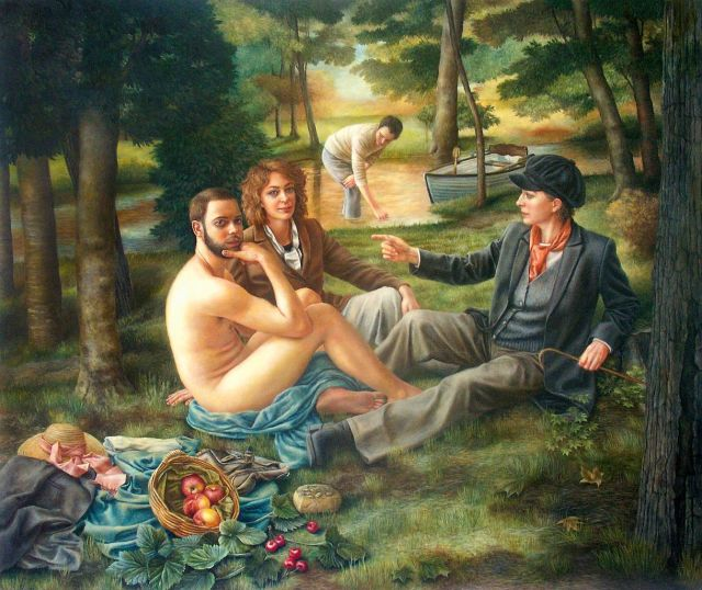 Le Dejeuner sur l'Herbe – after Manet, by Sally Moore